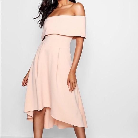 Dresses & Skirts - NWT, Blush Colored, Off-the-shoulder, Skater Dress
